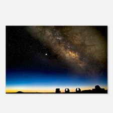 Milky way and observatories, Hawaii - Postcards (P