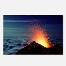 Mount Etna volcano erupting - Postcards (Pk of 8)