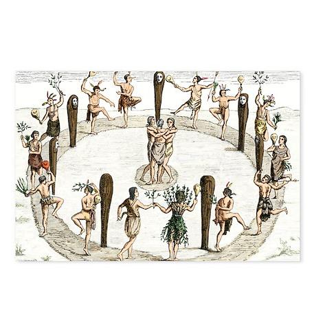 Native American tribal dance, artwork - Postcards