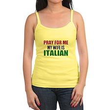 Pray Wife Italian Jr.Spaghetti Strap