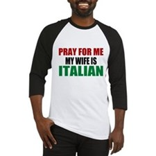 Pray Wife Italian Baseball Jersey