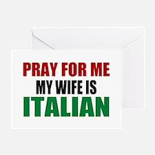 Pray Wife Italian Greeting Card
