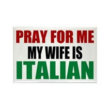 Pray Wife Italian Rectangle Magnet