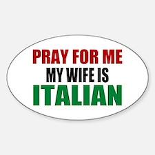 Pray Wife Italian Decal