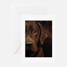 Funny Original dog art Greeting Card