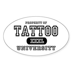 Tattoo University Oval Decal