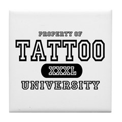 Tattoo University Tile Coaster