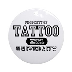 Tattoo University Ornament (Round)