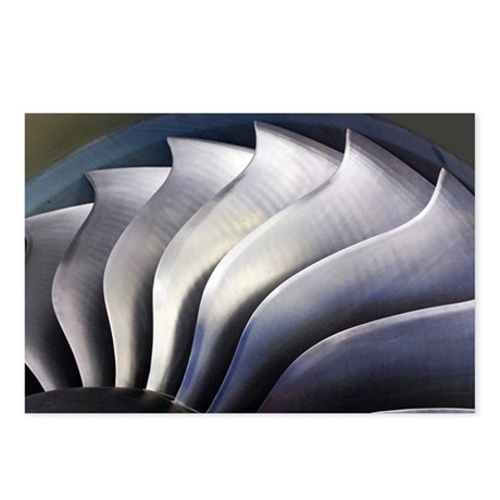 S-curve fan blades - Postcards (Pk of 8)