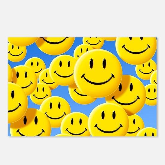 Smiley face symbols - Postcards (Pk of 8)