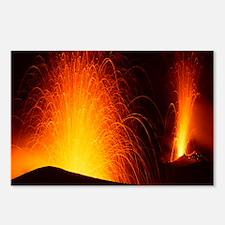 Stromboli double eruption - Postcards (Pk of 8)