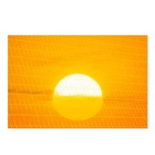 Sunset reflection on solar panel, artwork - Postca