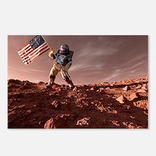 US exploration of Mars, artwork - Postcards (Pk of