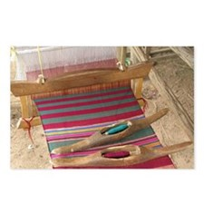 Various threads on weaving loom - Postcards (Pk of