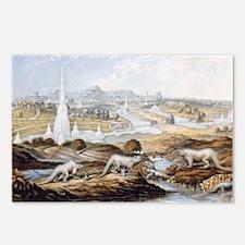 1854 Crystal Palace Dinosaurs by Baxter 1 - Postca