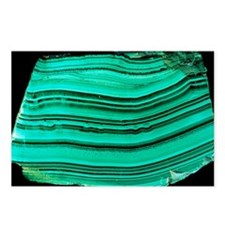 A polished slab of malachite - Postcards (Pk of 8)