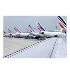 Aircraft at Charles de Gaulle Paris - Postcards (P