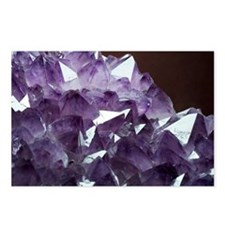 Amethyst crystals - Postcards (Pk of 8)