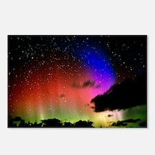 Aurora Borealis display with clouds - Postcards (P