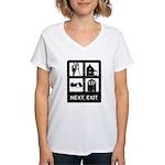 Next Exit Death Women's V-Neck T-Shirt