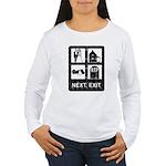 Next Exit Death Women's Long Sleeve T-Shirt