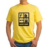 Next Exit Death Yellow T-Shirt