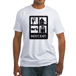 Next Exit Death Fitted T-Shirt