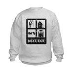 Next Exit Death Kids Sweatshirt