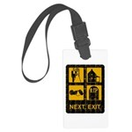 Next Exit Death Large Luggage Tag