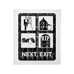 Next Exit Death Throw Blanket