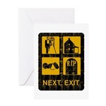 Next Exit Death Greeting Card
