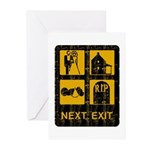 Next Exit Death Greeting Cards (Pk of 10)