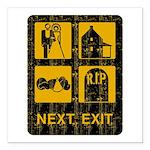 Next Exit Death Square Car Magnet 3