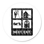 Next Exit Death Round Car Magnet