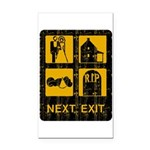 Next Exit Death Rectangle Car Magnet