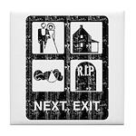Next Exit Death Tile Coaster