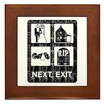 Next Exit Death Framed Tile