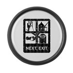Next Exit Death Large Wall Clock