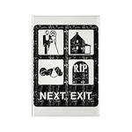 Next Exit Death Rectangle Magnet