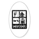Next Exit Death Sticker (Oval)