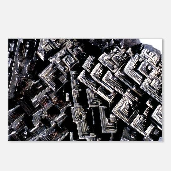 Bismuth mineral crystals - Postcards (Pk of 8)