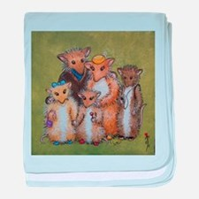 Woodhill Whiskers Mouse Family baby blanket