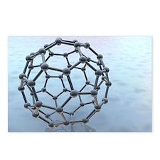 Buckminsterfullerene molecule - Postcards (Pk of 8