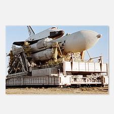 Buran space shuttle before flight - Postcards (Pk