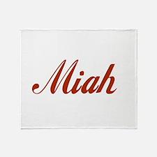 Miah name Throw Blanket