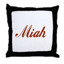 Miah name Throw Pillow