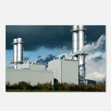 Combined cycle gas turbine power station - Postcar
