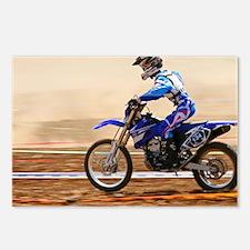 Cross country motorbike racing - Postcards (Pk of