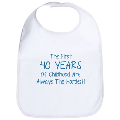 The First 40 Years Of Childhood Bib
