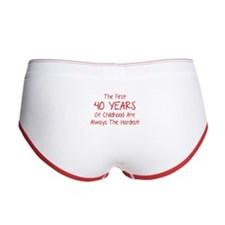 The First 40 Years Of Childhood Women's Boy Brief